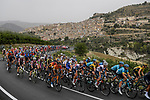 The peloton in action during Stage 3 of the 103rd edition of the Giro d'Italia 2020 running 150km from Enna to Etna (Linguaglossa-Piano Provenzana), Sicily, Italy. 5th October 2020.  <br /> Picture: LaPresse/Fabio Ferrari | Cyclefile<br /> <br /> All photos usage must carry mandatory copyright credit (© Cyclefile | LaPresse/Fabio Ferrari)