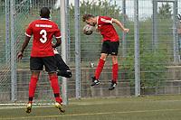 Oliver Neumann (TSG Worfelden) verpasst de Kopfballtreffer zum 2:1 - 06.09.2020: Spiel der Woche - TSG Worfelden vs. SG DJK Eintracht Rüsselsheim, B-Liga