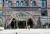 Cleveland: The Arcade, Romanesque Entrance on Superior. The South end of Euclid was remodeled Art Deco in the 1930's. Photo '01.
