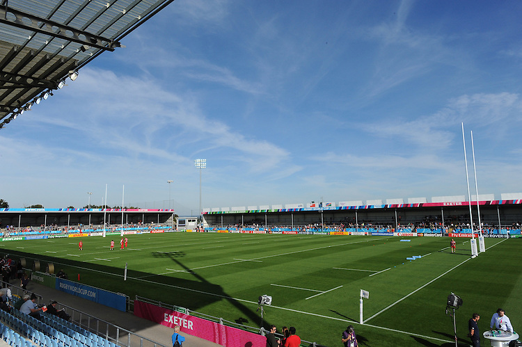 General view of Sandy Park before Match 20 of the Rugby World Cup 2015 between Tonga and Namibia - 29/09/2015 - Sandy Park, Exeter<br /> Mandatory Credit: Rob Munro/Stewart Communications