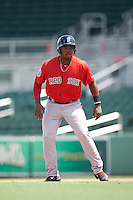 Boston Red Sox Kyri Washington (34) during an Instructional League game against the Minnesota Twins on September 23, 2016 at JetBlue Park at Fenway South in Fort Myers, Florida.  (Mike Janes/Four Seam Images)