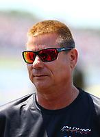 May 6, 2017; Commerce, GA, USA; NHRA funny car driver Jim Campbell during qualifying for the Southern Nationals at Atlanta Dragway. Mandatory Credit: Mark J. Rebilas-USA TODAY Sports