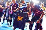 League LNFS 2018/2019.<br /> Play Off. Game: 5.<br /> FC Barcelona Lassa vs El Pozo Murcia: 3-2.<br /> Leo Santana & Arthur.