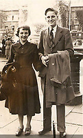 Pictured: Victim John Rees (R) with wife Eunice (L) when they were younger.<br /> Re: The trial of Zara Radcliffe, 29, from Porth, charged with stabbing three people at the Co-Op in Tylacelyn Road, Penygraig, near Tonypandy, on 5 May is due to start at Merthyr Tydfil Crown Court, Wales, UK. <br /> Radcliffe stabbed John Rees from nearby Trealaw and is also accused of attempting to murder Lisa Way, 53, Gaynor Saurin, 65, and Andrew Price, 58.