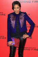 """NEW YORK, NY - NOVEMBER 20: Alicia Quarles at the New York Premiere Of Lionsgate's """"The Hunger Games: Catching Fire"""" held at AMC Lincoln Square Theater on November 20, 2013 in New York City. (Photo by Jeffery Duran/Celebrity Monitor)"""