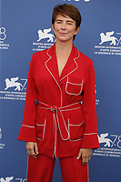 """VENICE, ITALY - SEPTEMBER 09: Sandra Korzeniak attends the photocall of """"Leave No Traces"""" during the 78th Venice International Film Festival on September 09, 2021 in Venice, Italy.<br /> CAP/GOL<br /> ©GOL/Capital Pictures"""