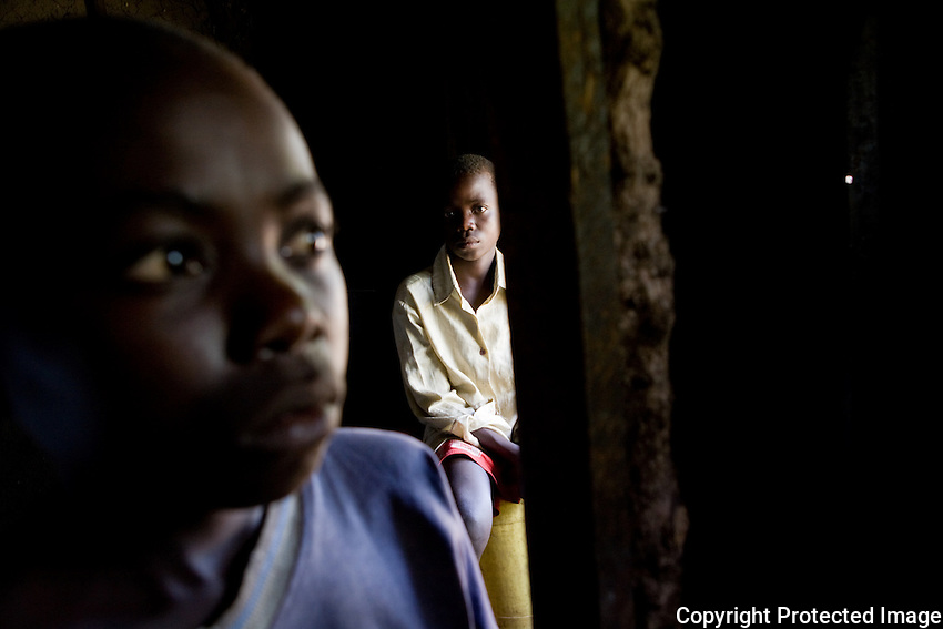 """Walter is 12 and Charles is 10. They are alone and they are invisible..""""Nobody comes from the community to visit us here. They just look at us from the outside,"""" Walter said looking out the door of the house he shares with his younger brother..They never knew their father. Their mother died  of AIDS in 2002 and in April  of 2008 their grandmother died.."""