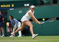 3rd July 2021; Wimbledon, SW London. England; Wimbledon Tennis Championships, day 6;  Kaja Juvan ,Slovenia