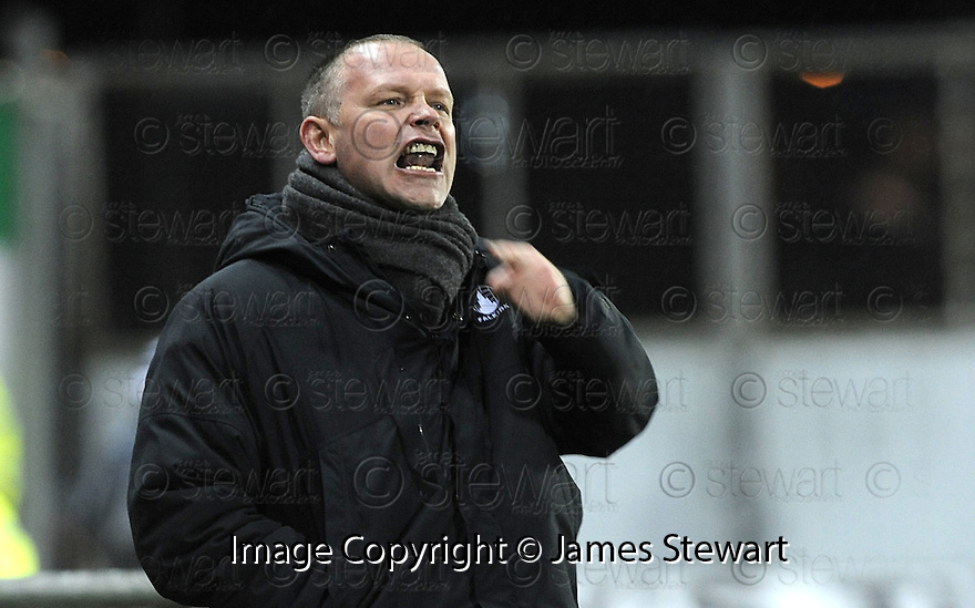 10/01/2009  Copyright Pic: James Stewart.File Name : sct_jspa30_falkirk_v_qots.FALKIRK MANAGER JOHN HUGHES.James Stewart Photo Agency 19 Carronlea Drive, Falkirk. FK2 8DN      Vat Reg No. 607 6932 25.Studio      : +44 (0)1324 611191 .Mobile      : +44 (0)7721 416997.E-mail  :  jim@jspa.co.uk.If you require further information then contact Jim Stewart on any of the numbers above.........