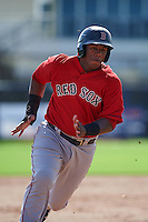 GCL Red Sox first baseman Jerry Downs (30) running the bases during the first game of a doubleheader against the GCL Rays on August 4, 2015 at Charlotte Sports Park in Port Charlotte, Florida.  GCL Red Sox defeated the GCL Rays 10-2.  (Mike Janes/Four Seam Images)