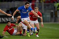 Michele Campagnaro Italy.<br />  <br /> Roma 9-02-2019 Stadio Olimpico<br /> Rugby Six Nations tournament 2019  <br /> Italy - Wales <br /> Foto Antonietta Baldassarre / Insidefoto