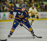 29 December 2013:  Canisius College Golden Griffins forward Jack Hidi, a Freshman from Toronto, Ontario, in first period action against the University of Vermont Catamounts at Gutterson Fieldhouse in Burlington, Vermont. The Catamounts defeated the Golden Griffins 6-2 in the 2013 Sheraton/TD Bank Catamount Cup NCAA Hockey Tournament. Mandatory Credit: Ed Wolfstein Photo *** RAW (NEF) Image File Available ***