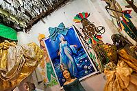 Afro-Brazilian religious statues, representing gods (orixas), are seen in the temple (terreiro) in Salvador, Bahia, Brazil, 9 February 2012.