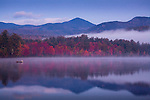 Before dawn on Lake Chocorua in Tamworth, White Mountains, NH