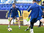 St Johnstone Training...06.05.21<br />Jamie McCart pictured during training at McDiarmid Park ahead of Sundays Scottish Cup semi-final against St Mirren.<br />Picture by Graeme Hart.<br />Copyright Perthshire Picture Agency<br />Tel: 01738 623350  Mobile: 07990 594431