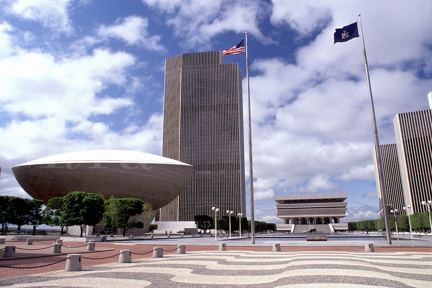 Albany, New York, The Governor Nelson A. Rockefeller Empire State Plaza in Albany, New York.