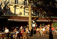 France Life at cafes at sunset in Paris France