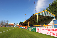 A general view of the ground ahead of kick-off - Braintree Town vs Chesterfield - FA Challenge Cup 1st Round Football at the Cressing Road Stadium, Braintree, Essex - 09/11/14 - MANDATORY CREDIT: Gavin Ellis/TGSPHOTO - Self billing applies where appropriate - contact@tgsphoto.co.uk - NO UNPAID USE