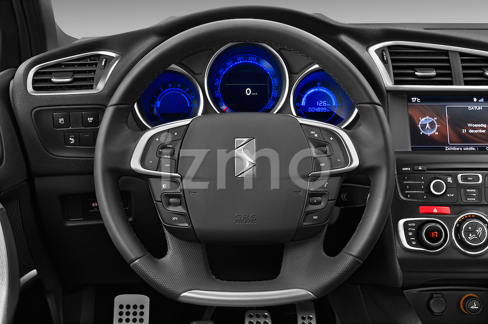 Steering wheel view of a 2013 Citroen DS4 Sport Chic 5 Door Hatchback 2WD
