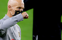 LOS ANGELES, CA - SEPTEMBER 02: LAFC head coach Bob Bradley celebrates after defeating the San Jose Earthquakes during a game between San Jose Earthquakes and Los Angeles FC at Banc of California stadium on September 02, 2020 in Los Angeles, California.