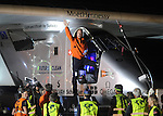 Solar Impulse 2 departs Dayton on May 25, 2016.