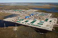 Bovanenkovo ,Yamal Peninsula, Russia, 10/07/2010..An aerial view of facilities under construction on the Gazprom Yamal Bovanenkovo gasfield project.