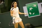 March 13, 2018: Daria Kasatkina (RUS) defeated Caroline Wozniacki (DEN) 6-4, 7-5 at the BNP Paribas Open played at the Indian Wells Tennis Garden in Indian Wells, California. ©Mal Taam/TennisClix/CSM