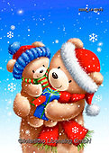Roger, CHRISTMAS ANIMALS, WEIHNACHTEN TIERE, NAVIDAD ANIMALES, paintings+++++,GBRM19-0096,#xa#