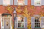Fall foliage colors historic Beacon Hill, Boston, MA