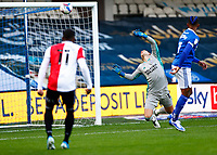 31st October 2020; The Kiyan Prince Foundation Stadium, London, England; English Football League Championship Football, Queen Park Rangers versus Cardiff City; Goalkeeper Alex Smithies of Cardiff City saves a shot