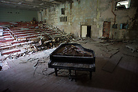 An old concert hall  abandoned after catastrophe Prypyat city near Chernobyl