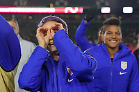 CARSON, CA - FEBRUARY 7: Megan Rapinoe #15 of the United States celebrates after the match during a game between Mexico and USWNT at Dignity Health Sports Park on February 7, 2020 in Carson, California.