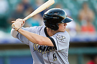 Omaha Storm Chasers outfielder Wil Myers #8 at bat during the Pacific Coast League baseball game against the Round Rock Express on July 20, 2012 at the Dell Diamond in Round Rock, Texas. The Chasers defeated the Express 10-4. (Andrew Woolley/Four Seam Images).