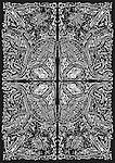 Original drawing in Pen on or paper.A4 sheet.<br /> Scanned<br /> Photoshop: Copy/Paste into Quarters.<br /> <br /> <br /> Original © 2012 neilbeer.com