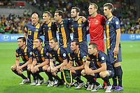 The Australian team pose for a photo during the FIFA 2014 World Cup Group D Asian Qualifier match between Australia and Saudi Arabia at AAMI Park in Melbourne, Australia...This image is not for sale on this web site. Please contact Southcreek Global Media for licensing:.Toll Free: 1.800.934.5030.Canada: 701 Rossland Rd. East, Suite 315, Whitby, Ontario, Canada, L1N 9K3.USA: 10792 Baron Dr, Parma OH, USA 44130.Web: http://southcreekglobal.net/ and http://southcreekglobal.com/