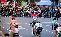 Fabio Jakobsen (NED/Deceuninck - QuickStep) wins the bunchsprint in Madrid just ahead of Sam Bennett (IRL/Bora-Hansgrohe)<br /> <br /> Stage 21: Fuenlabrada to Madrid (107km)<br /> La Vuelta 2019<br /> <br /> ©kramon