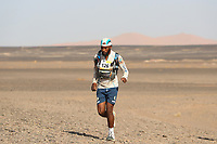 5th October 2021; Kourci Dial Zaid to Jebel El Mraier ; Thimotee DESREUMAUX (fra) Marathon des Sables, stage 3 of  a six-day, 251 km ultramarathon, which is approximately the distance of six regular marathons. The longest single stage is 91 km long. This multiday race is held every year in southern Morocco, in the Sahara Desert.