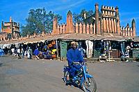 Mercado central na cidade de Bamako. Mali. 1988. Foto de Cynthia Brito.