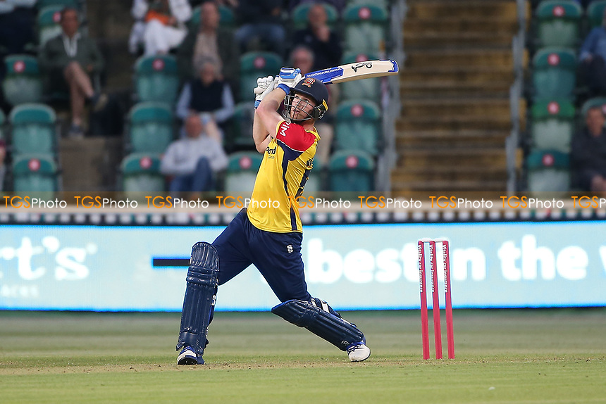 Jimmy Neesham hits 4 runs for Essex during Somerset vs Essex Eagles, Vitality Blast T20 Cricket at The Cooper Associates County Ground on 9th June 2021