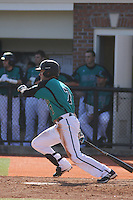 Coastal Carolina Chanticleers outfielder Ted Blackman #7 at bat during a game against the University of Virginia Cavaliers at Watson Stadium at Vrooman Field on February 18, 2012 in Conway, SC.  Virginia defeated Coastal Carolina 9-3. (Robert Gurganus/Four Seam Images)