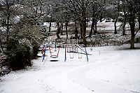 WEATHER PICTURE WALES<br /> Pictured: A park covered in snow near Penderyn, in Powys, Wales, UK. Tuesday 29 January 2019<br /> Re: A Met Office yellow warning for snow and ice for the whole of Wales has came into force.