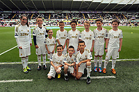 Pictured: Children Mascots.<br /> Sunday 19 May 2013<br /> Re: Barclay's Premier League, Swansea City FC v Fulham at the Liberty Stadium, south Wales.