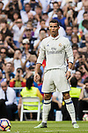 Cristiano Ronaldo of Real Madrid looks on during their La Liga match between Real Madrid CF and SD Eibar at the Santiago Bernabéu Stadium on 02 October 2016 in Madrid, Spain. Photo by Diego Gonzalez Souto / Power Sport Images
