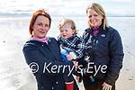 Enjoying a stroll in Ballyheigue beach on Saturday, l to r: Amanda Reidy, Aidan McKenna and Siobhan Galway.