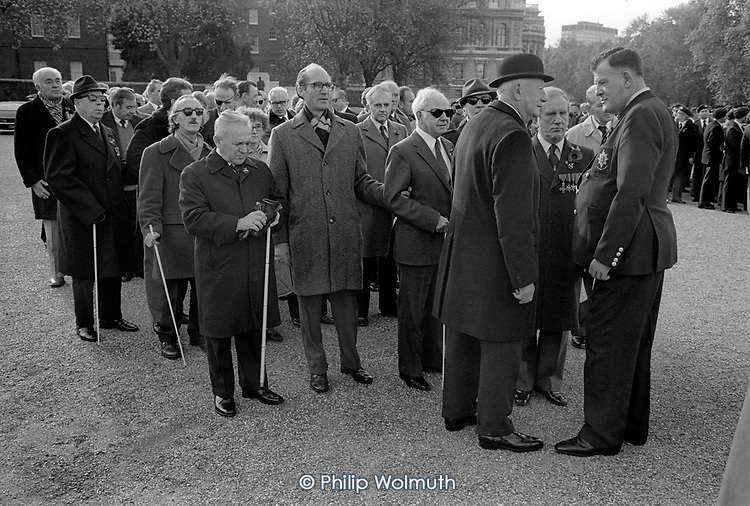 Remembrance Day ceremony, Horse Guards Parade, London 1981.