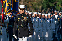 Military personnel parade during the State Visit Arrival Ceremony for Australia's Prime Minister Scott Morrison Friday, Sept. 20, 2019, on the South Lawn of the White House. (Official White House Photo by Joyce N. Boghosian)