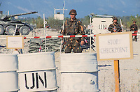 "- Hungarian soldiers control a checkpoint during a NATO ""peacekeeping"" military exercise in Friuli ....- militari ungheresi presidiano un checkpoint durante esercitazione NATO di ""peacekeeping"" in Friuli"
