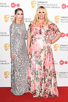 Katherine Ryan and Roisin Conarty<br /> in the winners room for the BAFTA TV Awards 2018 at the Royal Festival Hall, London<br /> <br /> ©Ash Knotek  D3401  13/05/2018