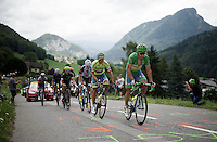 green jersey & world champion Peter Sagan (SVK/Tinkoff) leading the race at the base of the Col de la Ramaz (Cat1/1619m/13.9km/7.1%)<br /> <br /> Stage 20: Megève › Morzine (146.5km)<br /> 103rd Tour de France 2016