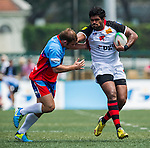 Carinat Dragons vs Gavekal Mongrels during day 1 of the 2014 GFI HKFC Tens at the Hong Kong Football Club on 26 March 2014. Photo by Xaume Olleros / Power Sport Images